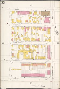 Brooklyn V. 7, Plate No. 33 [Map bounded by Dean St., Schenectady Ave., Park Pl., Troy Ave.]