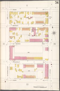 Brooklyn V. 7, Plate No. 34 [Map bounded by Dean St., Utica Ave., Park Pl., Schenectady Ave.]