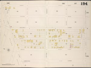 Brooklyn, V. 8, Double Page Plate No. 194 [Map bounded by Osborn St., Sutter Ave., Hopkinson Ave., Jamaica Ave.]