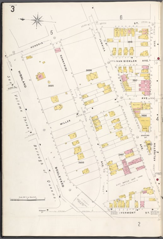 Brooklyn V. 8, Plate No. 3 [Map bounded by Hendrix St., Arlington Ave., Vermont St., Highland Blvd.]