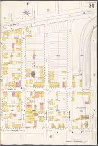 Brooklyn V. 8, Plate No. 30 [Map bounded by Atlantic Ave., Atkins Ave., Glenmore Ave., Linwood St.]