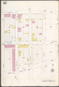 Brooklyn V. 8, Plate No. 65 [Map bounded by Sutter Ave., Fountain Ave., New Lots Ave., Atkins Ave.]
