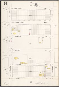 Brooklyn V. 8, Plate No. 85 [Map bounded by New Jersey Ave., Hegeman Ave., Malta St., New Lots Ave.]