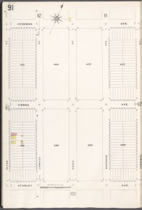 Brooklyn V. 8, Plate No. 91 [Map bounded by Hegeman Ave., Berriman St., Stanley Ave., Elton St.]
