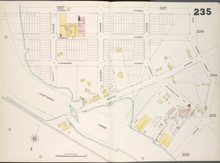 Brooklyn, V. 9, Double Page Plate No. 235 [Map bounded by Cherry St., Varick Ave., New town Creek]