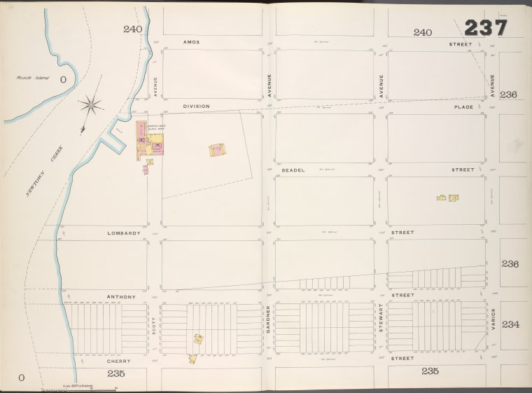 Brooklyn, V. 9, Double Page Plate No. 237 [Map bounded by Amos St., Varick Ave., Cherry St., Newtown Creek]