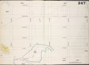 Brooklyn, V. 9, Double Page Plate No. 247 [Map bounded by Randolph St., Varick Ave., Meadow St., Seneca Ave.]