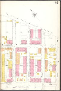 Brooklyn V. 9, Plate No. 46 [Map bounded by Moffat St., Hamburg Ave., Covert St.]