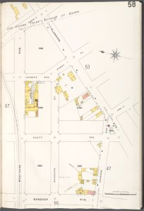 Brooklyn V. 9, Plate No. 58 [Map bounded by Flushing Ave., Johnson Ave., Gardner Ave., Montrose Ave.]