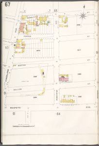 Brooklyn V. 9, Plate No. 67 [Map bounded by Bennett St., Morgan Ave., Maspeth Ave., Kingsland Ave.]