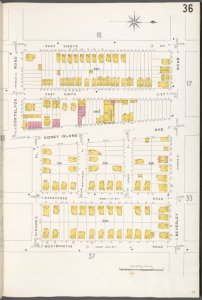 Brooklyn V. 10, Plate No. 36 [Map bounded by E. 8th St., Beverley Rd., Westminster Rd., Slocum PL., Cortelyou Rd.]