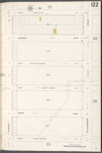Brooklyn V. 10, Plate No. 122 [Map bounded by E. 40th St., Clarendon Rd., E. 45th St., Avenue D]