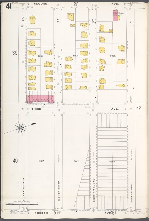 Brooklyn V. 11, Plate No. 41 [Map bounded by 2nd Ave., 81st St., 4th Ave., 84th St.]