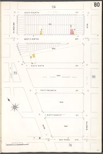 Brooklyn V. 11, Plate No. 80 [Map bounded by 64th St., 8th Ave., Bay Ridge Ave., 7th Ave.]