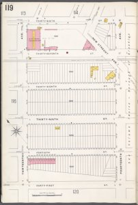 Brooklyn V. 11, Plate No. 119 [Map bounded by 36th St., 14th Ave., 41st St., 13th Ave.]