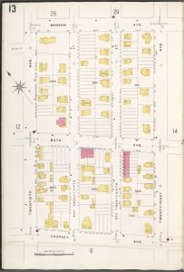 Brooklyn V. 12, Plate No. 13 [Map bounded by Benson Ave., 21st Ave., Cropsey Ave., 20th Ave.]