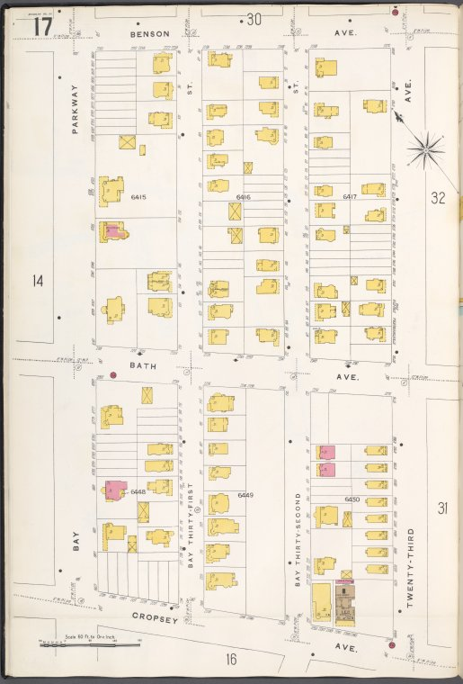 Brooklyn V. 12, Plate No. 17 [Map bounded by Benson Ave., 23rd Ave., Cropsey Ave., Bay Parkway]