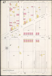 Brooklyn V. 12, Plate No. 47 [Map bounded by 14th Ave., 63rd St., 16th Ave., 66th St.]