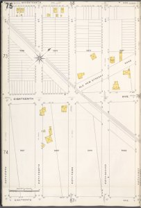 Brooklyn V. 12, Plate No. 75 [Map bounded by 17th Ave., 51st St., 19th Ave., 55th St.]