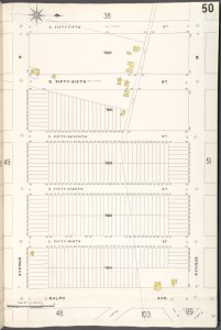 Brooklyn V. 15, Plate No. 50 [Map bounded by E.55th St., Avenue M, Ralph Ave., Avenue N]