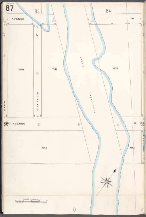Brooklyn V. 15, Plate No. 87 [Map bounded by Avenue W, E.33rd St., Marsh St.]