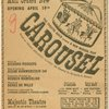 """The Theatre Guild presents a new musical play Carousel based on Ferenc Molinar's """"Liliom"""" (as adapted by Benjamin F. Glazer)"""