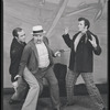 Act II, Scene Two: Mr. Bascombe (Franklyn Fox) fights off Jigger (Murvyn Vye) and threatens Billy (John Raitt) with a gun