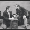 John Raitt as Billy Bigelow and Murvyn Vye as Jigger Craigin in Carousel