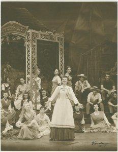 [Christine Johnson (Nettie Fowler), Jean Darling (kneeling left as Carrie Pipperidge) and cast in Carousel]