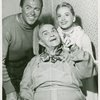 Howard Keel (Billy Bigelow), Victor Moore (Starkeeper) and Barbara Cook (Julie Jordan) in the 1957 revival of Carousel]