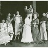 Pat Stanley (Carrie Pipperidge), Russell Nype (Enoch Snow), Leo Lucker (Heavenly friend), Victor Moore (Starkeeper), Bambi Linn (Louise), Robert Pagent (Carnival boy), Barbara Cook (Julie Jordan), Marie Powers (Nettie Fowler), James Mitchell (Jigger Craigin) and Kay Medford (Mrs. Mullin) in the 1957 revival of Carousel]