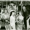 Susan Watson (Carrie Pipperidge), Eileen Christy (Julie Jordan), John Raitt (Billy Bigelow) and cast in the 1965 revival of Carousel]
