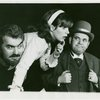 Michael Kermoyan (Jigger Craigin), Nancy Dussault (Carrie Pipperidge) and Jack De Lon (Enoch Snow) in the 1966 revival of Carousel]