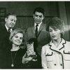 Jack Manning (Mr. McIlhenny), Madeleine Sherwood (Mrs. McIlhenny), Sergio Franchi (Renato Di Rossi) and Elizabeth Allen (Leona Samish) in rehearsal for Do I Hear a Waltz?]