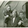 Martha Eggerth (Minnie Sorenson), Jack Haley (Zachary Ash) and Leif Erickson (Patrick O'Toole) in Higher and Higher]