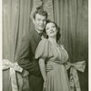 Leif Erickson (Patrick O'Toole) and Martha Eggerth (Minnie Sorenson) in Higher and Higher]