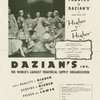 "Every Broadway production uses ""fabrics by Dazian's"" and now it's ""Higher and higher""..."