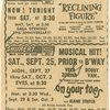 Newspaper advertisement for the 1954 revival of On Your Toes while in tryouts in New Haven
