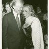 Former President Jimmy Carter and Natalia Makarova (Vera Barnova) after a performance of the 1983 revival of On Your Toes]