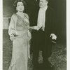 Kitty Carlisle (Peggy Porterfield replacement) and George S. Irving (Sergei Alexandrovitch) in the 1983 revival of On Your Toes]