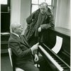 [Richard Rodgers (music) and Nicol Williamson (Henry VIII) in rehearsal for Rex]
