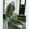 [Nicol Williamson (Henry VIII) and Richard Rodgers (music) in rehearsal for Rex]