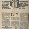 [Full-page advertisement/ticket order form in The New York Times (4/28/1976) for Rex]