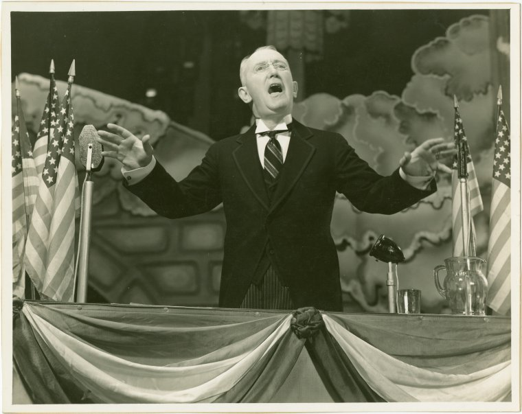 [George M. Cohan (President) in I'd Rather Be Right]