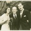 Joy Hodges (Peggy Jones), George M. Cohan (President) and Austin Marshall (Phil Barker) in I'd Rather Be Right]