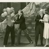 Joseph Macaulay (Tony), Austin Marshall (Phil Barker), George M. Cohan (President) and Joy Hodges (Peggy Jones) in I'd Rather Be Right]