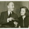 George M. Cohan (President) and Joy Hodges (Peggy Jones) in I'd Rather Be Right
