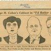 [Caricature in the New York Herald Tribune of cast members of I'd Rather be Right]