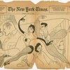 Caricature by Al Hirschfeld in The New York Times (May 24, 1953) of the cast of Me and Juliet