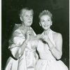 [Baroness Maria Augusta von Trapp and Mary Martin (Maria Rainer) at opening night of The Sound of Music]